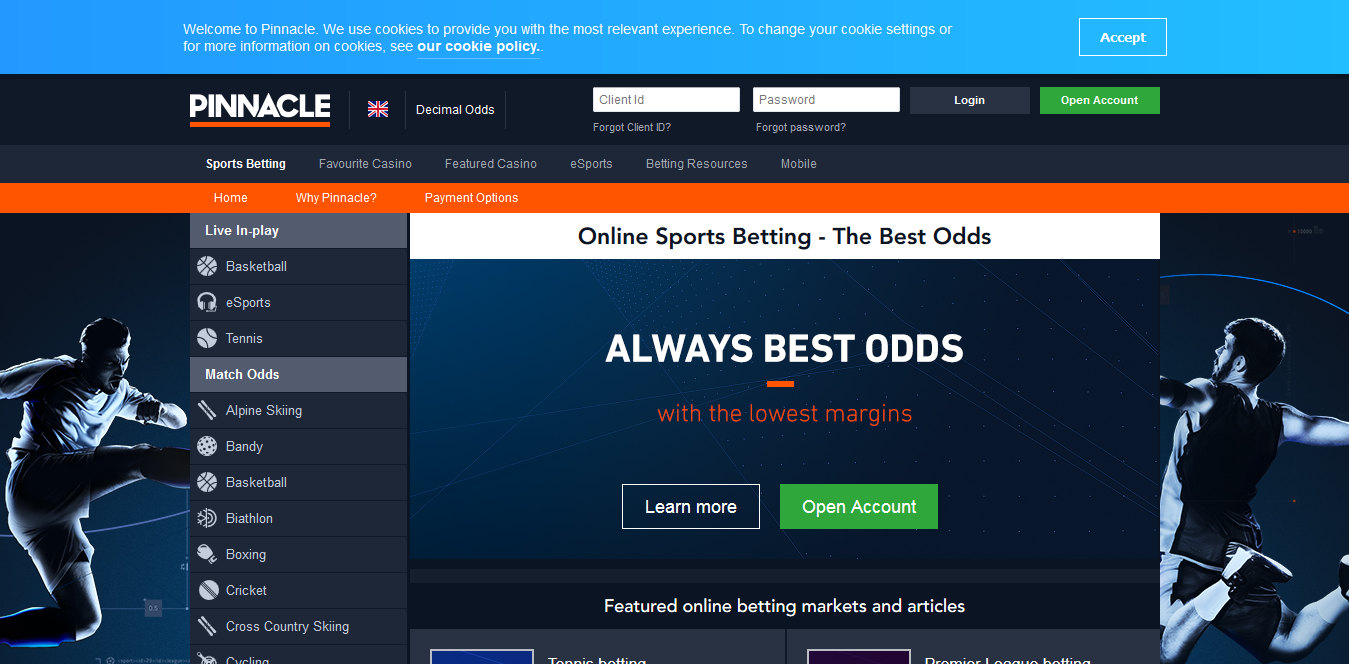 Screenshot 2019 02 06 Online Sports Betting The Best Odds Pinnacle - 3 Major Websites to Bet on Baseball in 2019