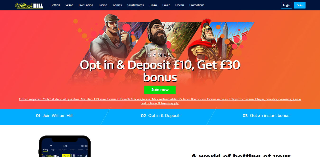 Screenshot 2019 02 06 William Hill™ Bet £10 Get £30 in Free Bets  - 3 Major Websites to Bet on Baseball in 2019